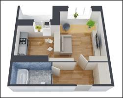 Матовый натяжной потолок в однокомнатной квартире