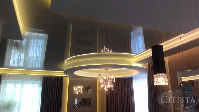 Натяжные потолки с подсветкой