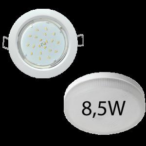 Светильник встраиваемый Ecola GX53-H4 + светодиодная лампа 8,5W