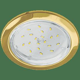 Встраиваемый светильник Ecola GX53 H4-GL, глубокий, 48×106