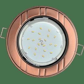 Встраиваемый светильник Ecola GX53 H4, рифленый «6 полос», 43х115