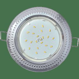 Встраиваемый светильник Ecola GX53 H4, рифленый «Чеканка», 43х115