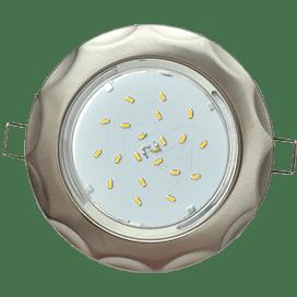 Встраиваемый светильник Ecola GX53 H4, рифленый «Звезда», 43×116